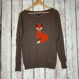 Brown old navy fox sweater medium